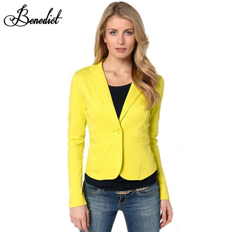 Veste de blazer femme jaune