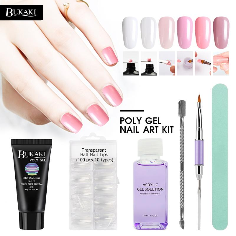 Poly Gel 30g Soak Off UV Builder Jelly Gel Nails Extension Tips ...