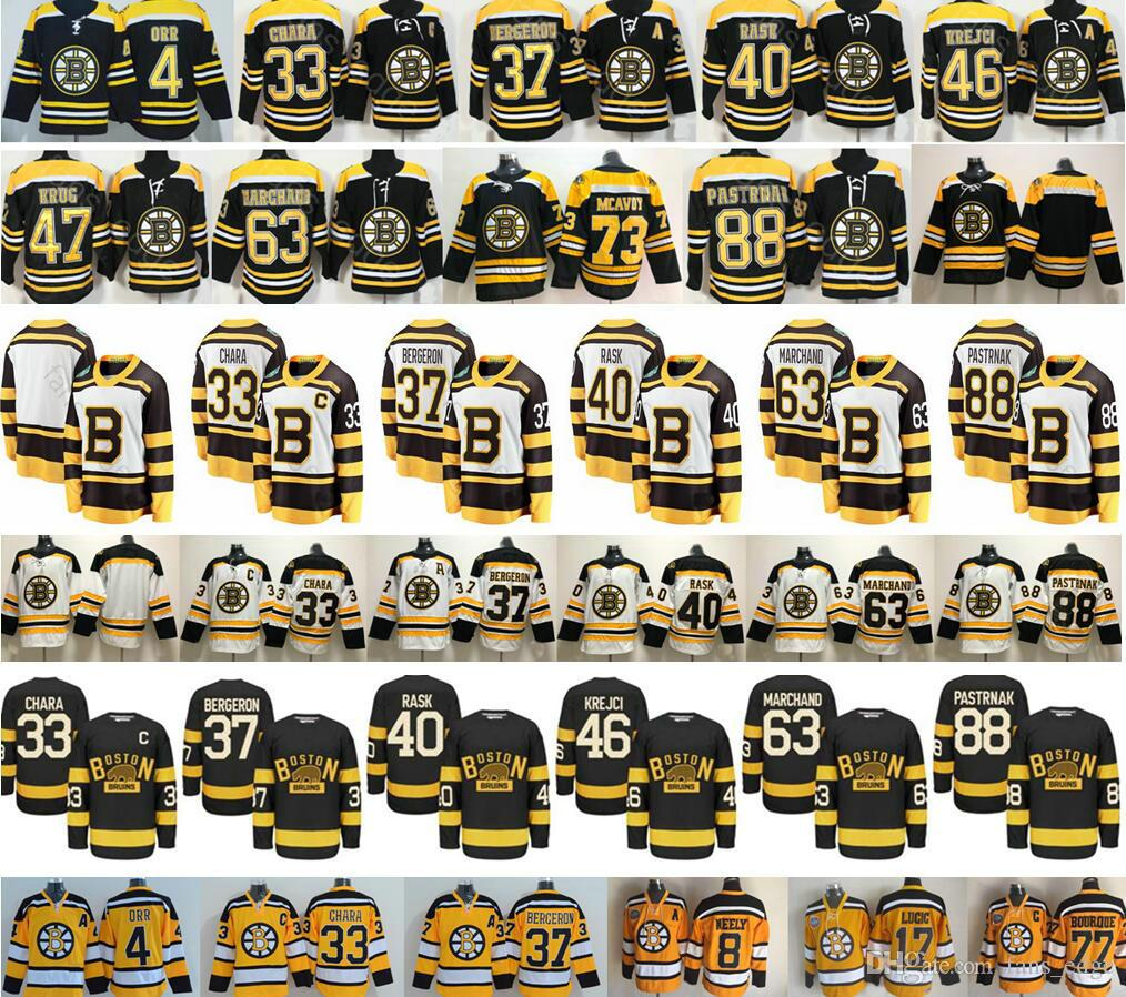 6622fe0aa 2019 Winter Classic Boston Bruins 4 Bobby Orr 33 Zdeno Chara 37 ...