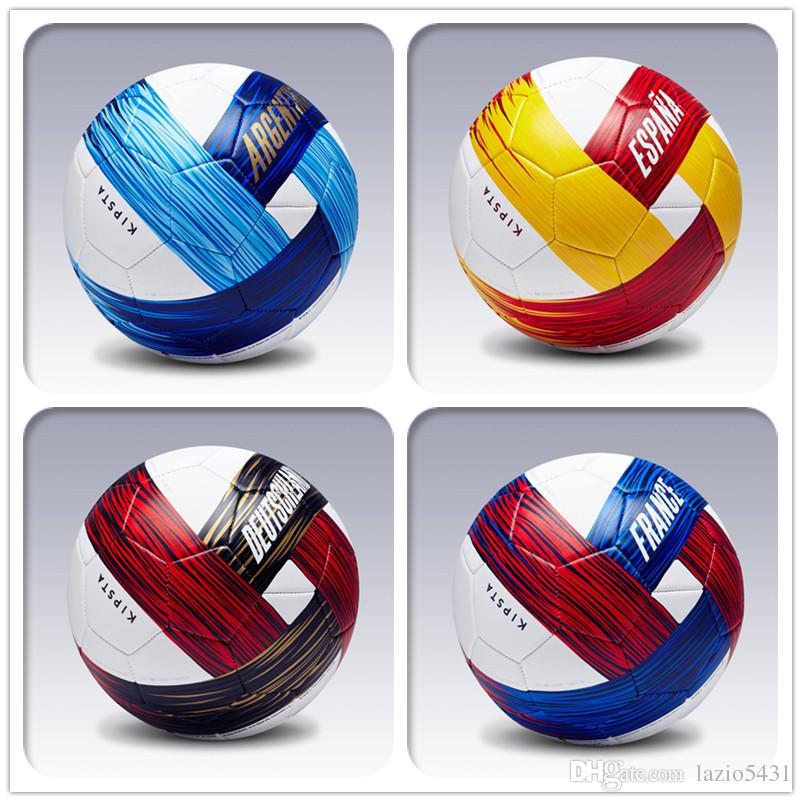 fb128d819 Compre Autêntico Decathlon KIPSTA Argentina Espanha França Alemanha World  Cup Equipe Comemorativa De Futebol Jogos De Treinamento Bola De Futebol  Tamanho 5 ...