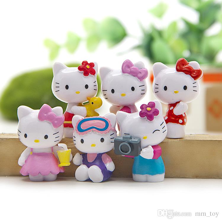 2019 Hello Kitty Home Decoration Mini Toys Kids Birthdays Gifts
