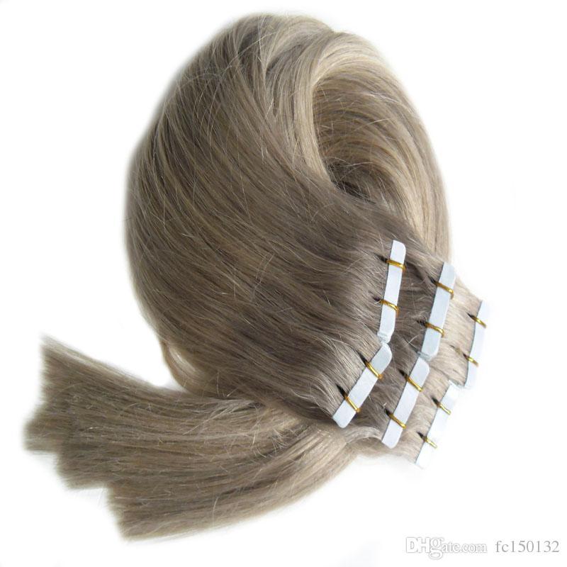 Extensões de cabelo Cinza Do Cabelo 12