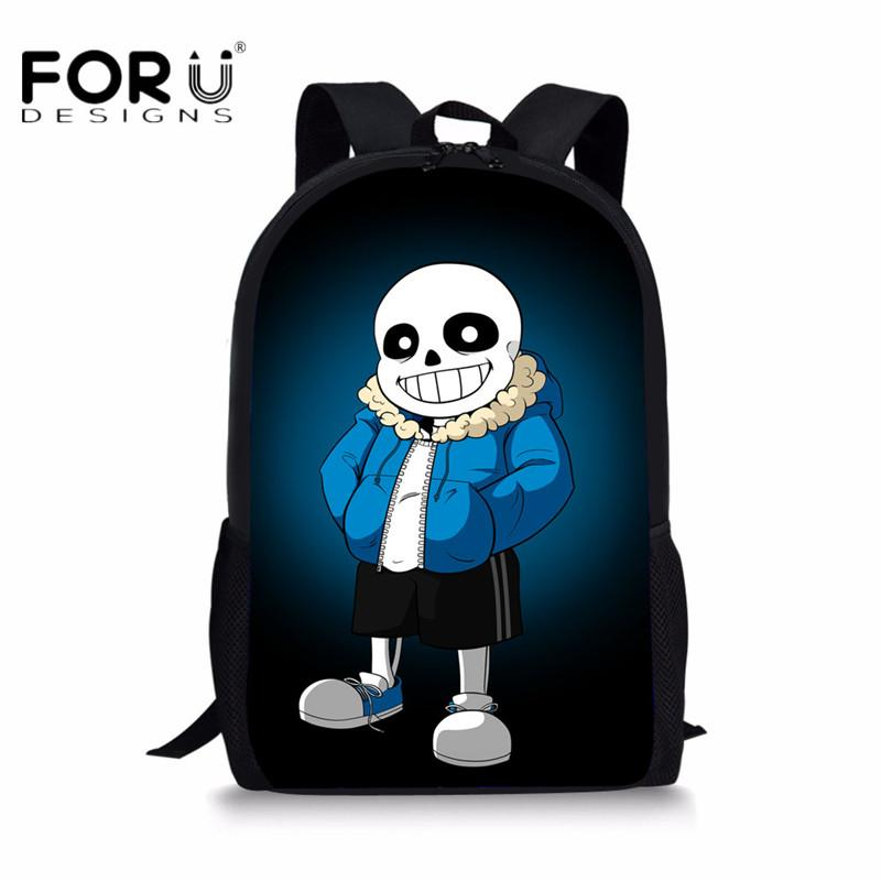 875d3a037e FORUDESIGNS Undertale Printing Backpack For Kids Boys Girls School Bags 3D  Cartoon Kindergarten Baby Daily Pack Mochila Escolar Backpacks For Back To  School ...