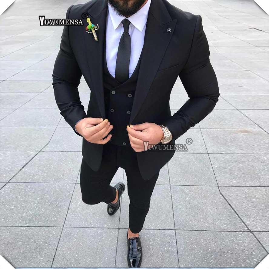 Costumes Noir Pour Acheter Homme Hommes Costume Mariage Yiwumensa WEH2ID9