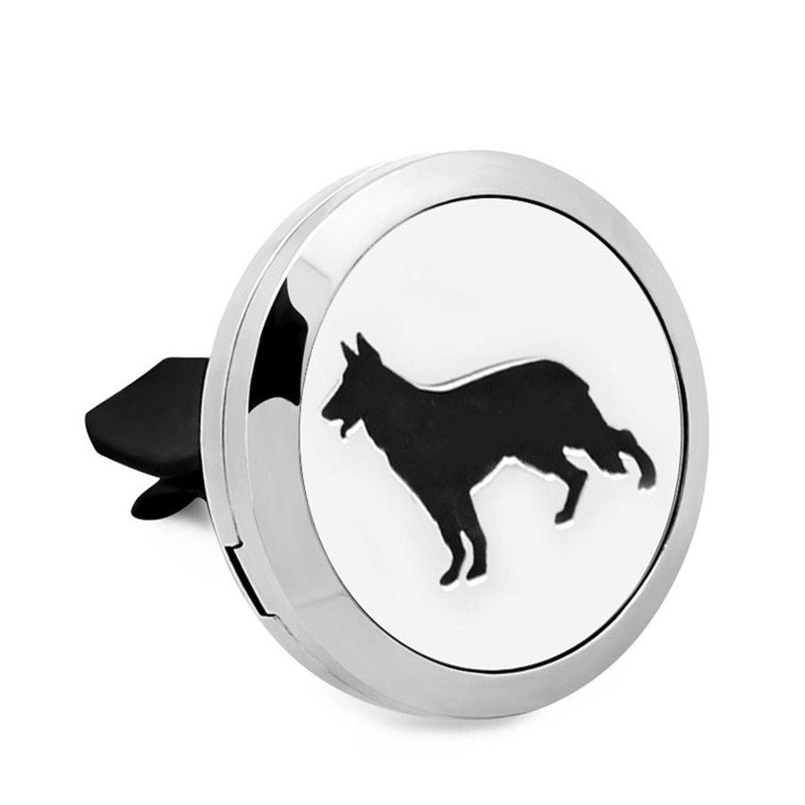 hot sale dog ocean Essential Oil Car Diffuser Locket Vent Clip 316 L Stainless Steel Perfume locket Magnetic Randomly Oil Pads as Gift
