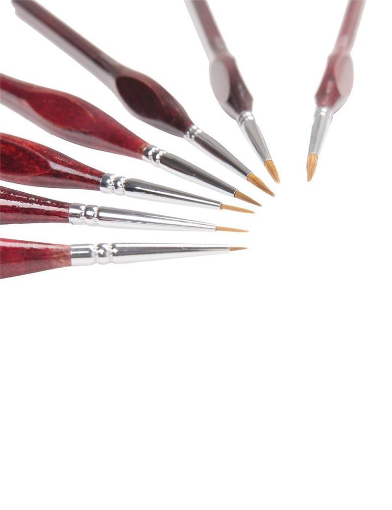 MEEDEN Professional Sable Set de pinceles para el cabello - 7 pinceles de arte en miniatura para pintar Gouache Oil Painting Brush Art Supplies
