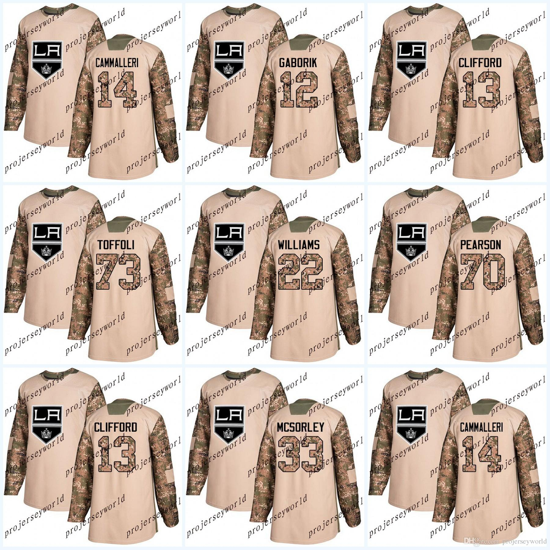 2019 2017 Camo Veterans Day Los Angeles Kings 52 Michael Amadio 22 Trevor  Lewis 71 Torrey Mitchell 13 Kyle Clifford Hockey Jerseys From  Projerseyworld 9e7a5eb8e