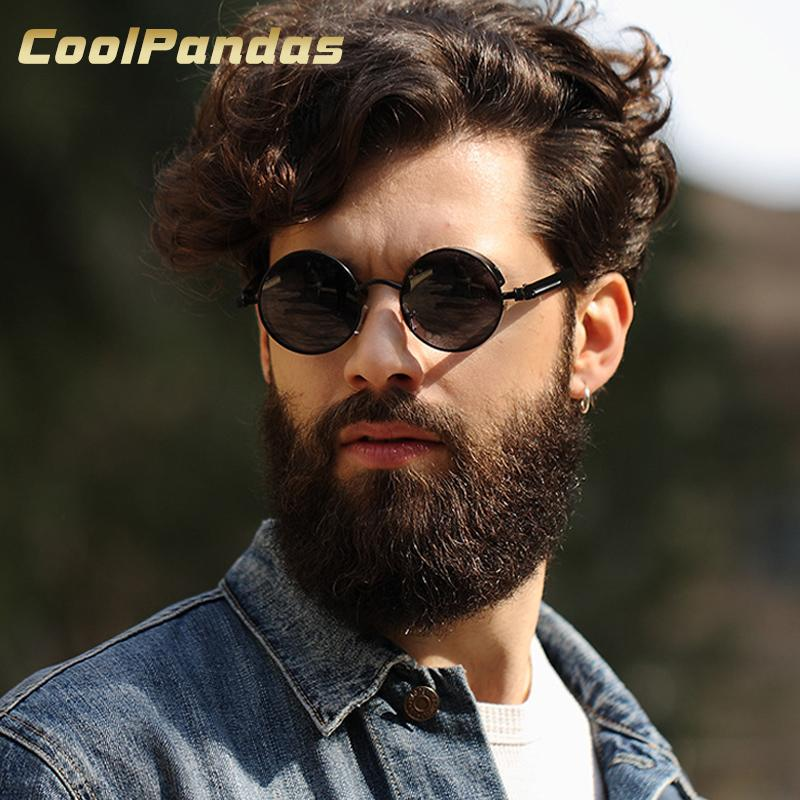 78dcf265c13 COOLPANDAS Round Sun Glasses Men   Women Polarized Sunglasses John Lennon  Granny Sunglasses Gothic Steampunk Vintage Sol Eyewear Sunglasses Shop  Bolle ...