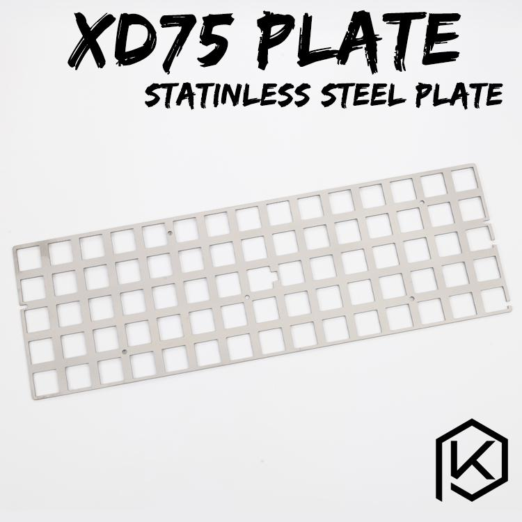 stainless steel plate for xd75re 60% custom keyboard Mechanical Keyboard  Plate support xd75re