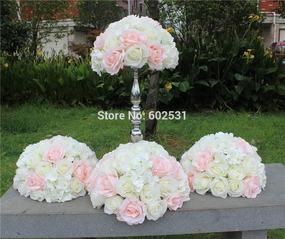 2018 Spr Pink White Hot Sale Lotwedding Table Flower Ball