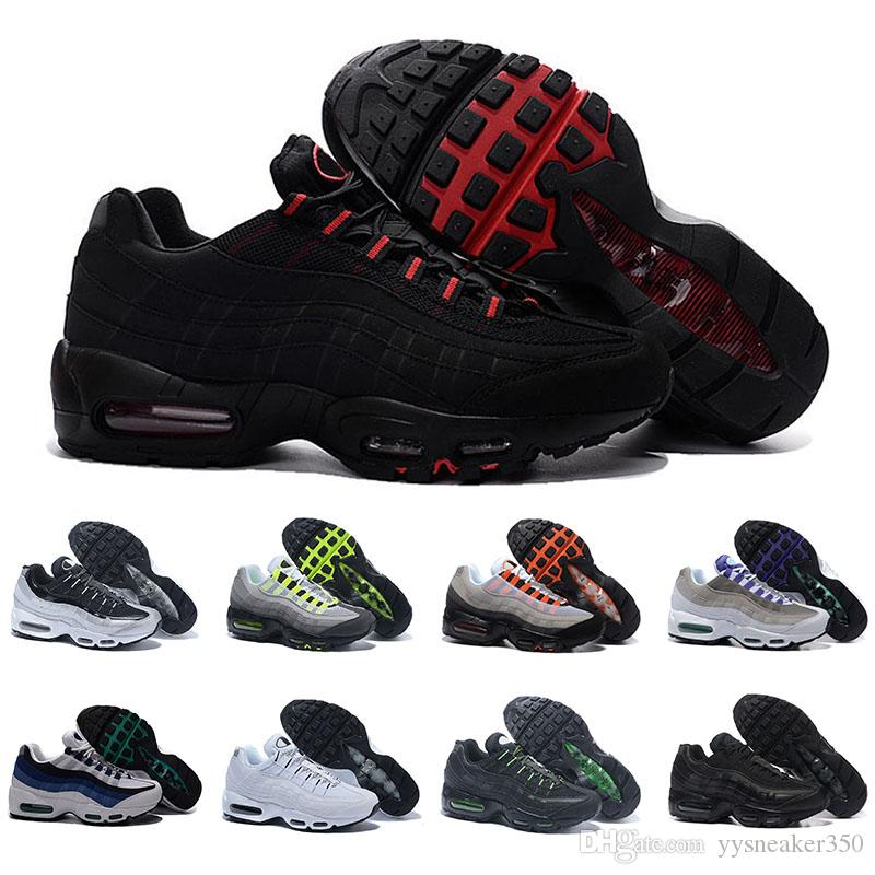 43344d6a96 ... shop acheter nike air max 95 airmax classique 95 og tripel blanc noir  hommes femmes chaussures