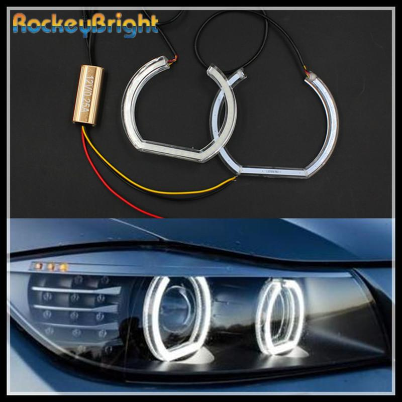 2019 Rockeybright Smd Car Headlight Crystal Angel Eyes White Led