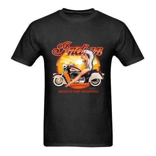 Indian Motorcycle Tshirt Black Cotton New Men's T-Shirt Tee Size S to 3XL New Metal Short Sleeve Casual Shirt High Quality For Man Bett