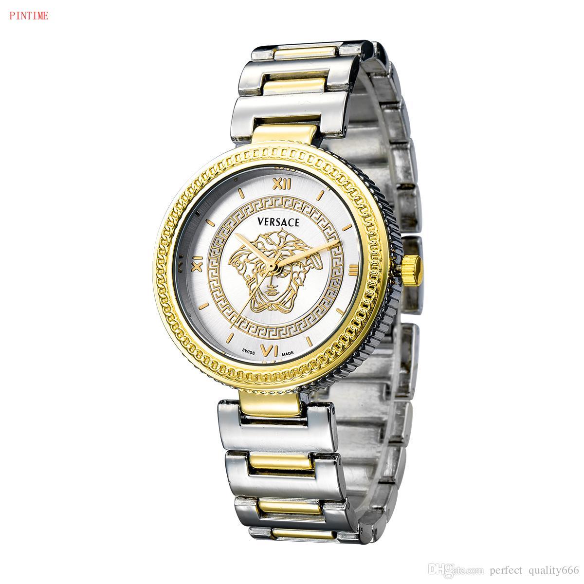 Compre Fecha Automática Caliente Unisex Reloj De Oro Moda De Lujo Hombres Y  Mujeres Banda De Acero Movimiento De Cuarzo Reloj Oro Plata Reloj De Pulsera  De ... 07fea63fc635
