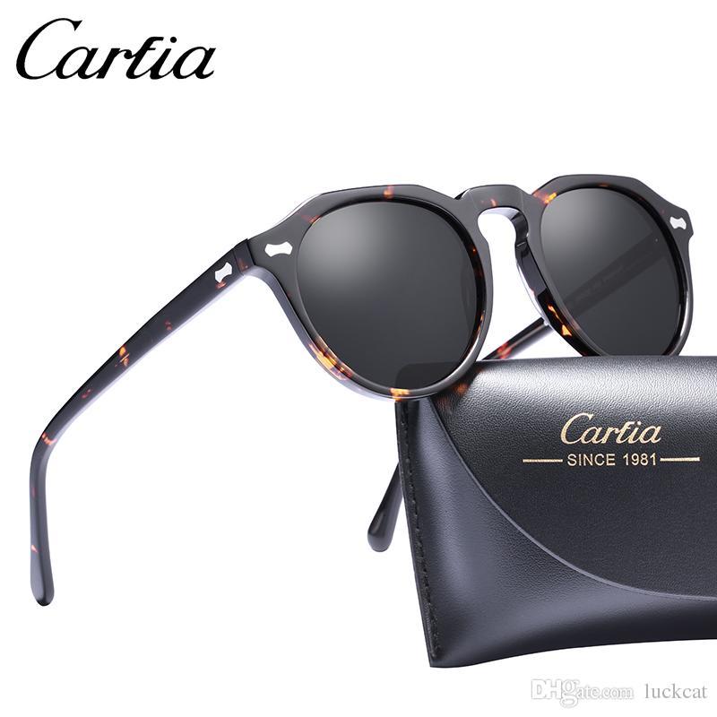 9e126b1c2 Compre Nova Marca Unisex Retro Oval Óculos De Sol Para Homens Polarizada  Moda Quadro De Alta Qualidade Acetato Mulheres Óculos De Sol CARFIA 5266  50mm Com ...