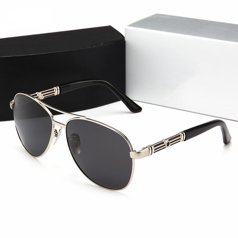 05f34f40af28a Compre Nova Marca De Luxo Designer Homem Óculos De Sol Drving Com Caixa Moda  Metal Frame Mulheres Oval Polarizing Óculos Óculos De Sol Com Estojo  Original ...