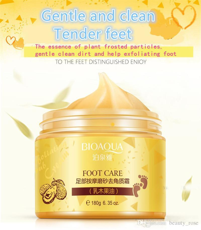 BIOAQUA 24K GOLD Shea Buttermassage Cream Peeling Renewal Mask Baby Foot Skin Smooth Care Cream Exfoliating Foot Mask in stock