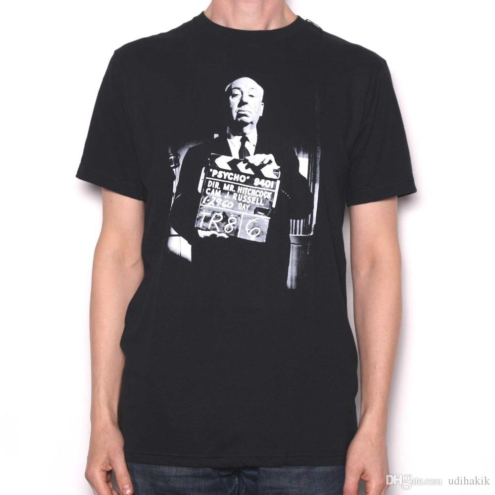Newest Funny Alfred Hitchcock T Shirt - Hitch on the Set of Psycho ... 5a13d4e00a8b