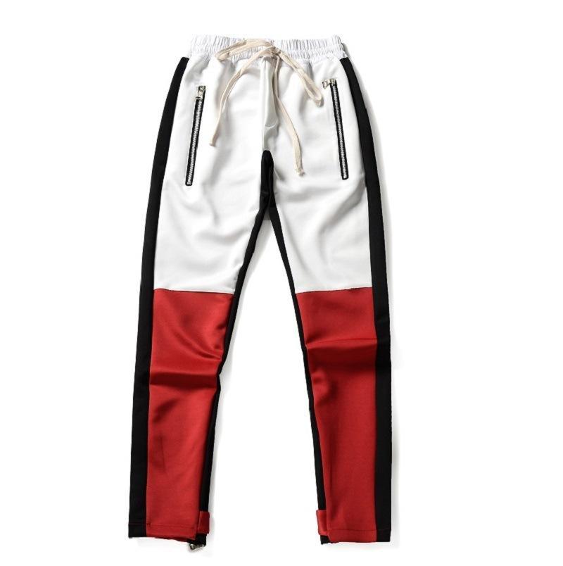 40e7d636 Justin Bieber Stripes Splice Men Pants Hip Hop Fashion Fear of God ...
