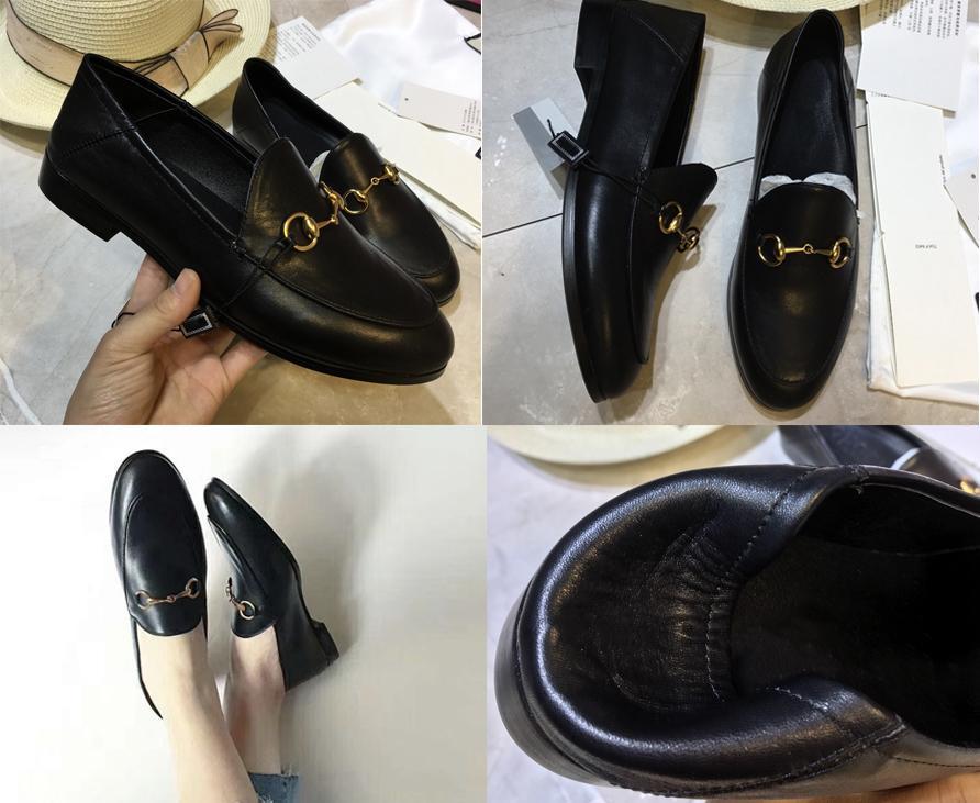 Yeni Katır Princetown Erkekler Kadınlar Kürk Terlik Mules Flats Gerçek Deri Tasarımcı Moda Metal Zinciri Bayanlar iskarpin ABD 5-12