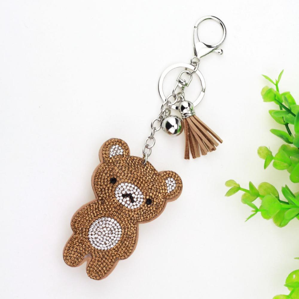 be884b77321ed Luxury Cute Bling Full Rhinestones Cute Bear Keychain Car Key Chain Ring  Pendant For Bag Charm Hot Sale Gifts 6C2363 Custom Lanyards Keyrings From  Xailiang