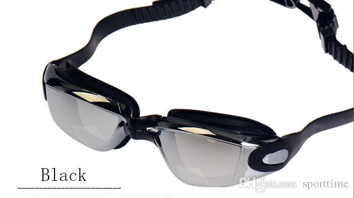 أزياء 7 ألوان سوبر سيليكون واضح نظارات 100 ٪ الأشعة فوق البنفسجية نظارات السباحة للماء للرجال والنساء نظارات السباحة.