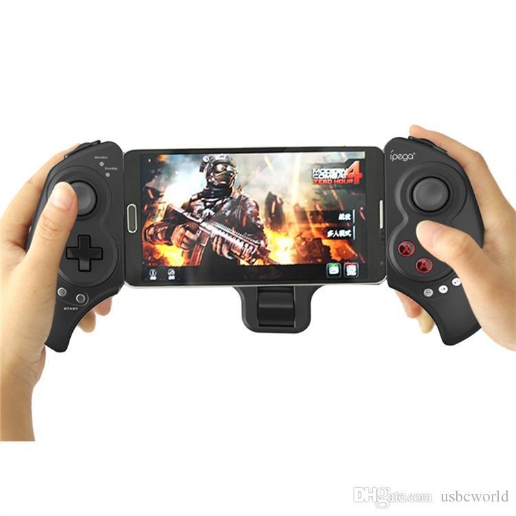 Jeu de manette de jeu sans fil Bluetooth de haute qualité pour tablettes mobiles Ordinateur multi-fonction sans fil Gampad avec support rétractable