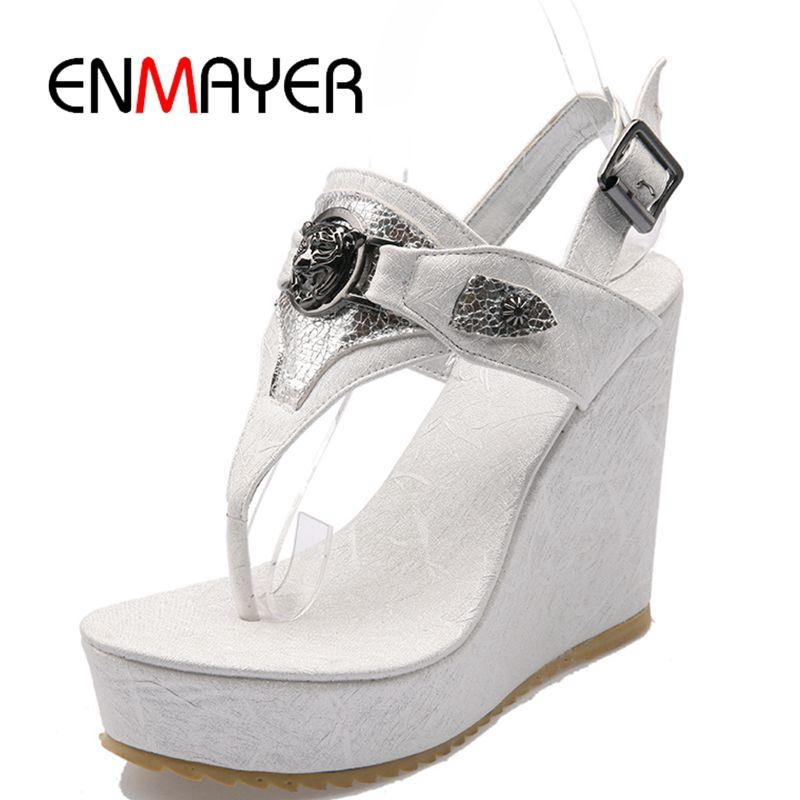 3bf1ea91acffd Wholesale Summer Wedge Sandals Woman Sexy Peep Toe Comfortable Sexy Ladies  Shoes Roman Classics Sandals Gladiator Style ZYL018 Silver Sandals Gold  Sandals ...