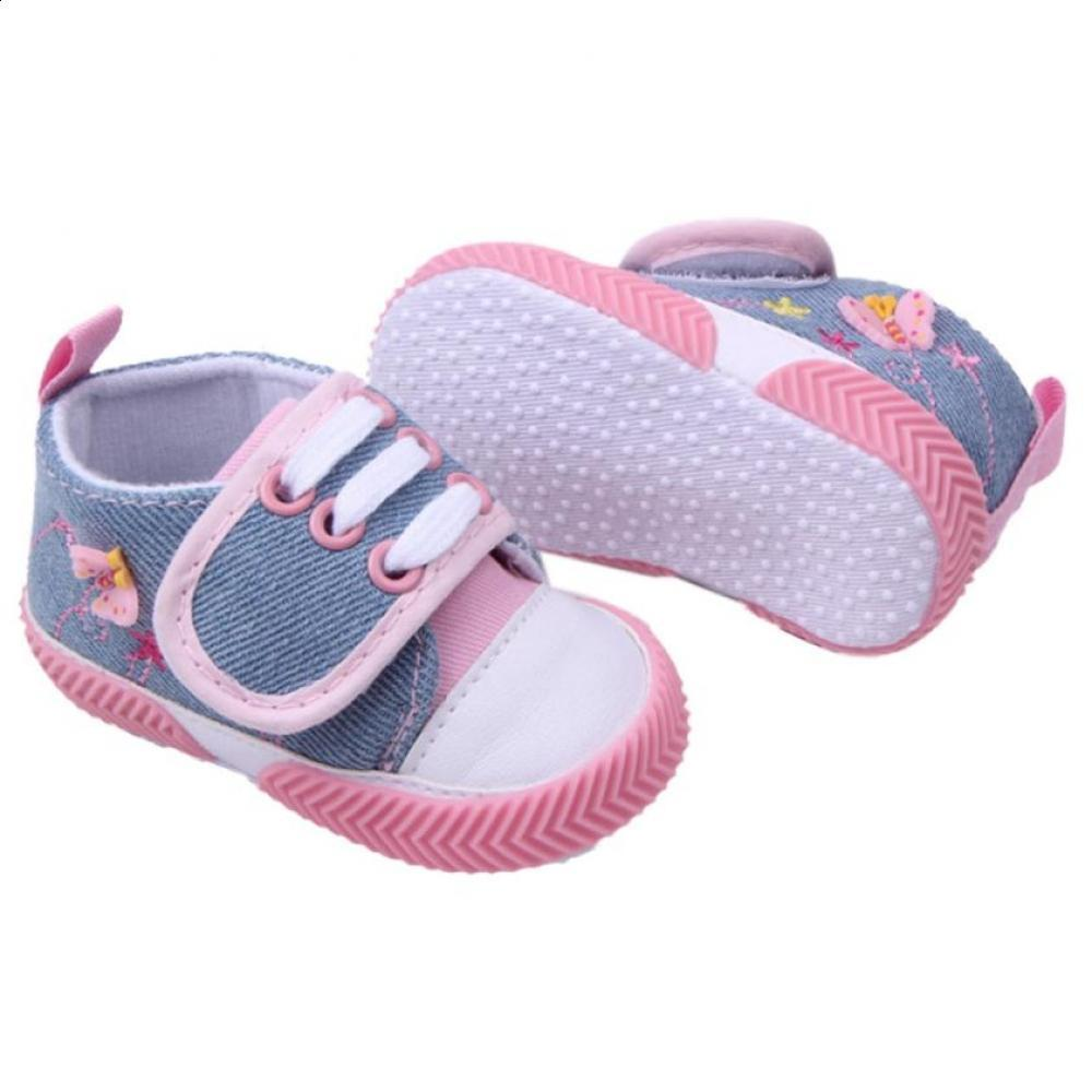 First Walkers Honesty Newborn Girl Soft Sole Crib Toddler Shoes Canvas Sneaker