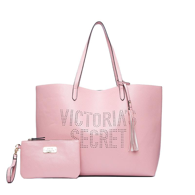 Vs Love Pink Girl Bag Travel Duffel Bag Women Travel SHOULDER Handbags  Beach Large Secret Capacity Shopping Bags Shoulder Bags Cheap Shoulder Bags  2pcs set ... 55c45c70fe
