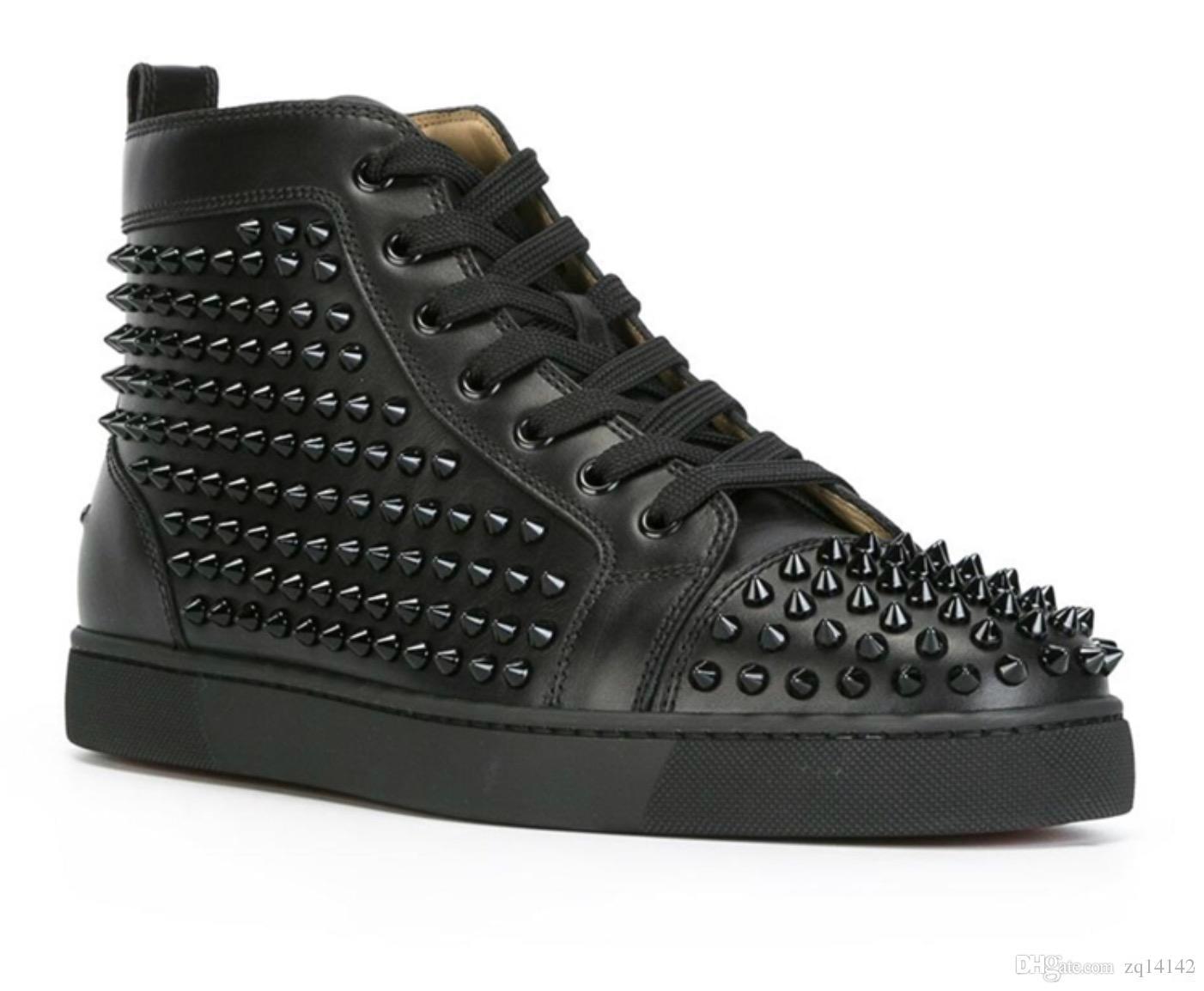 50c4a7bdcb7b 2018 Original Vogue Fashion Designer Brand Studded Spikes Flats ...