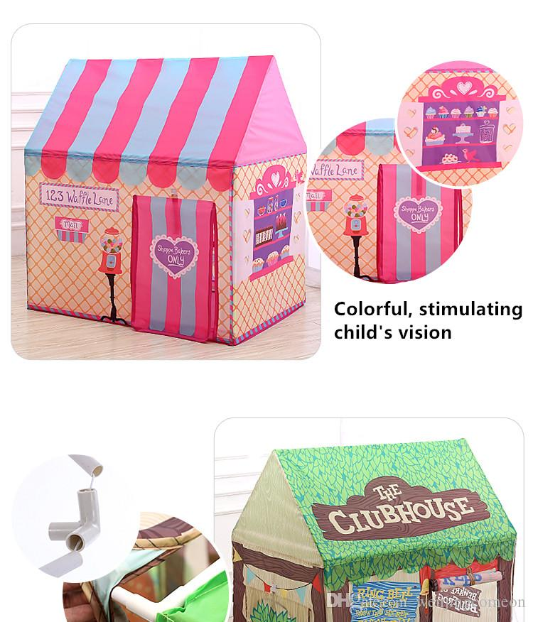Kids toys tents Foldable Portable Tent Boy Girl Princess Prince Castle Indoor Outdoor Play Tent play mat Rug Playhouse Best Gift