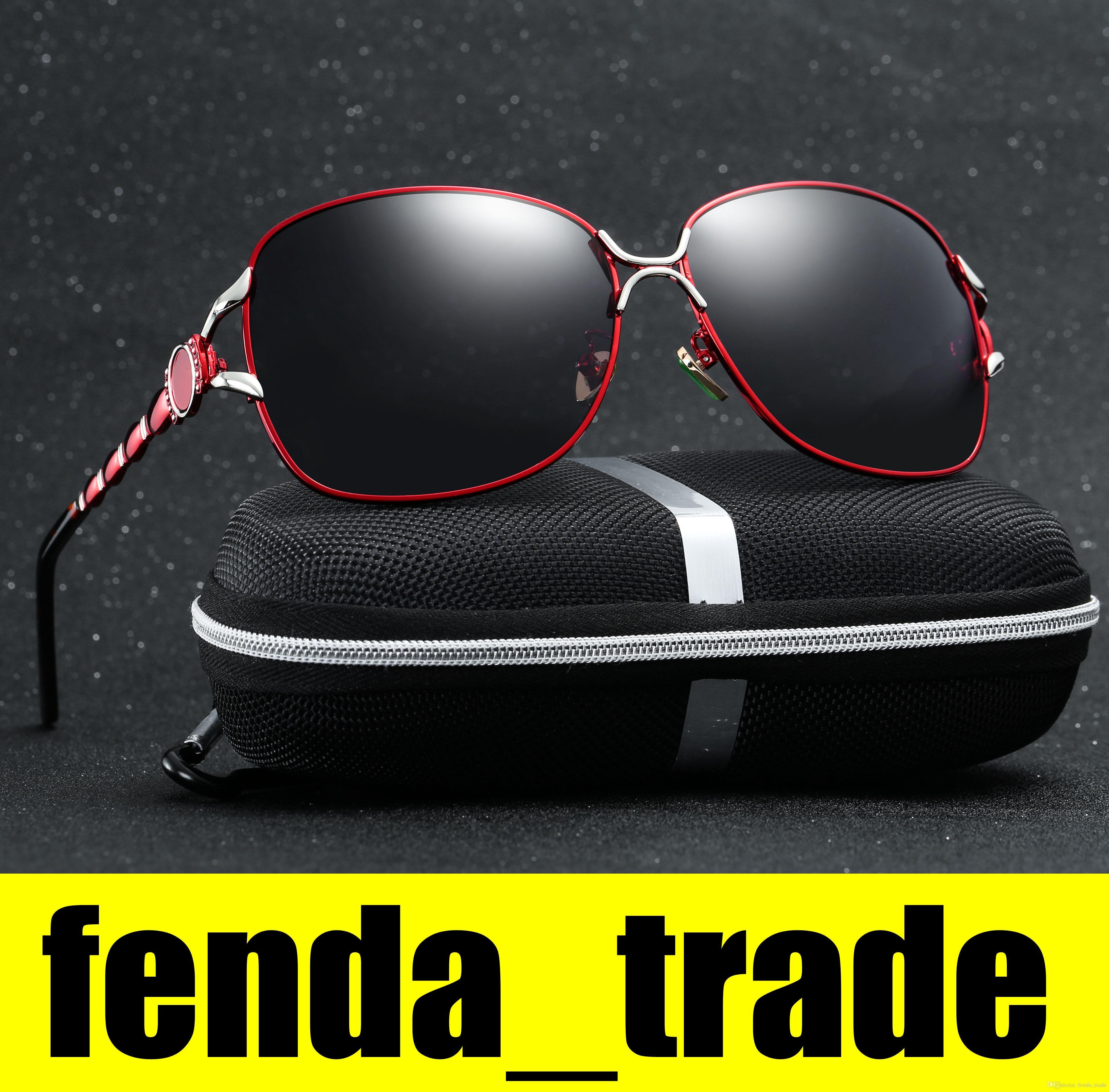 206359c608 Compre HD Gafas De Sol De Marca De Alta Calidad Gafas De Sol De Moda Polarizadas  Gafas De Diseño Para Hombres Gafas De Sol Para Mujer Con Casos Sin LOGO A  ...