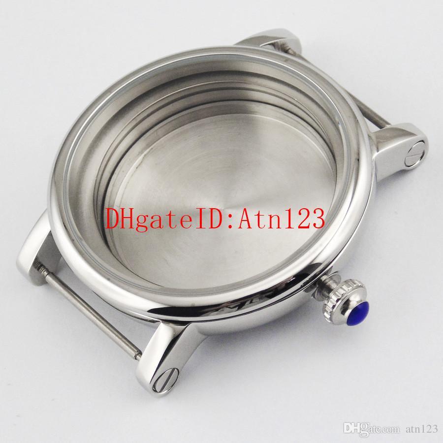 Debert 43mm Wrist Watch Case Fit Miyota 8205/8215/821A,ETA 2836 DG2813/3804 Men's Stainless Steel Wristwatch Watch Case P456