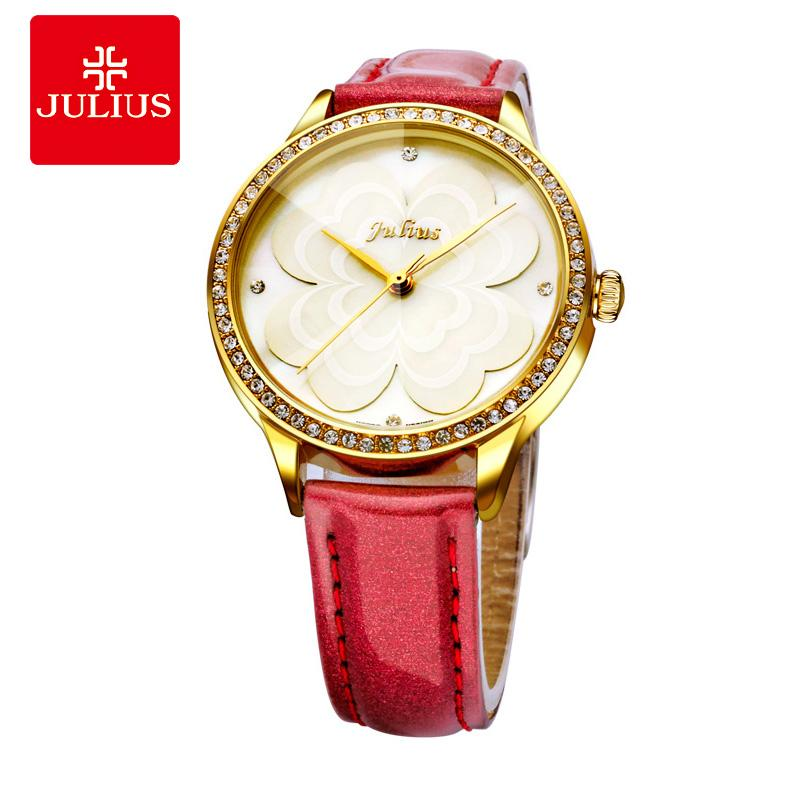 b6fb9f47b8f9 Compre JULIUS 2018 Princess Flower Watch Regalo Romántico Whatch Mujeres  Jalea De Lujo Rhinestones Marca Relojes Lady Girl Retro Reloj E1 A  38.19  Del ...
