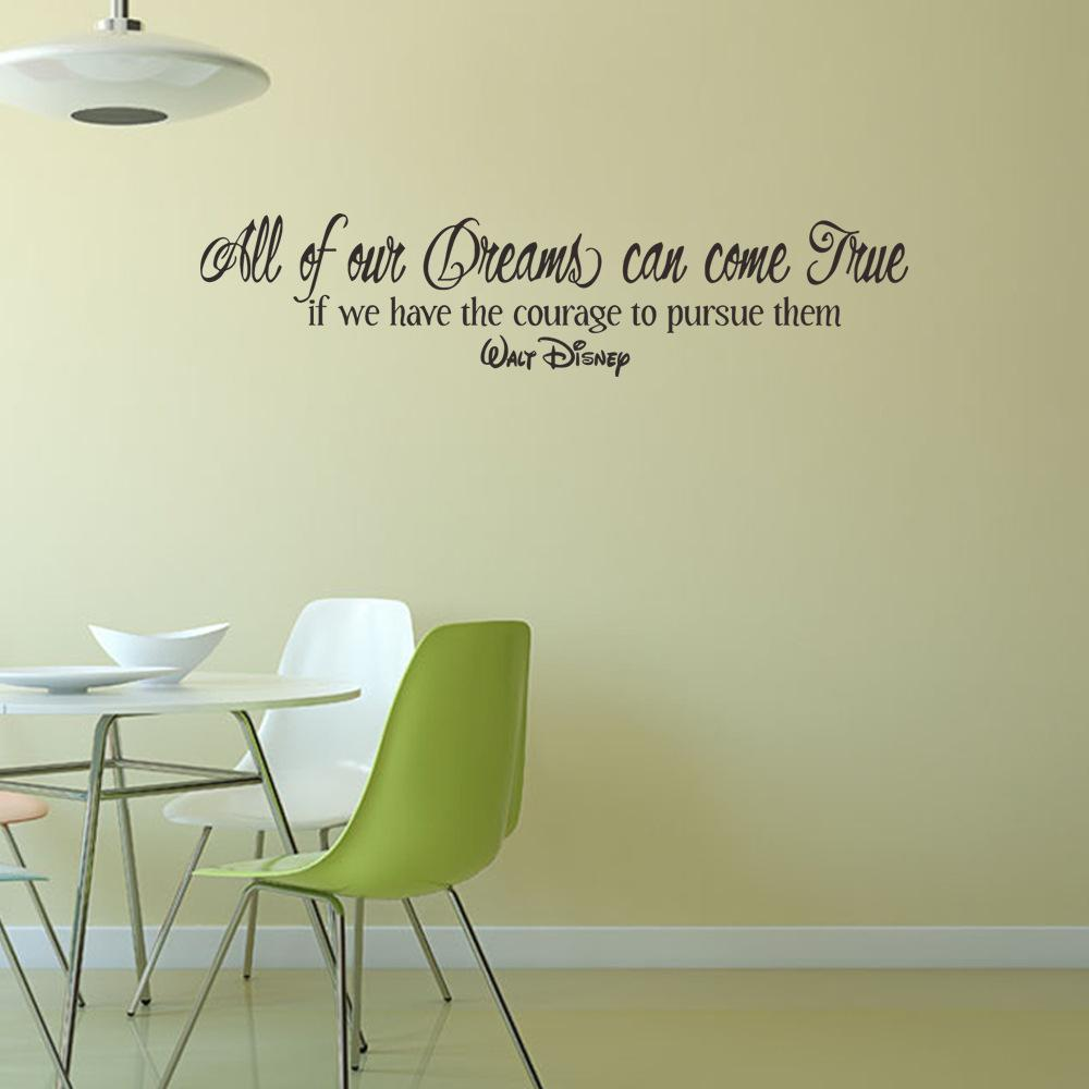 Quotes All Our DREAM Can Come True Wall Stickers For Kids Rooms Vinyl Children  Decals For Nursery Baby Room Decor Nursery Room Wall Decals Nursery  Stickers ...