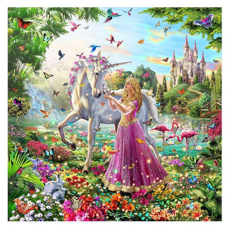 Satın Al Fairyland Unicorn Ve Kız Sayılar Tarafından Diy Boyama
