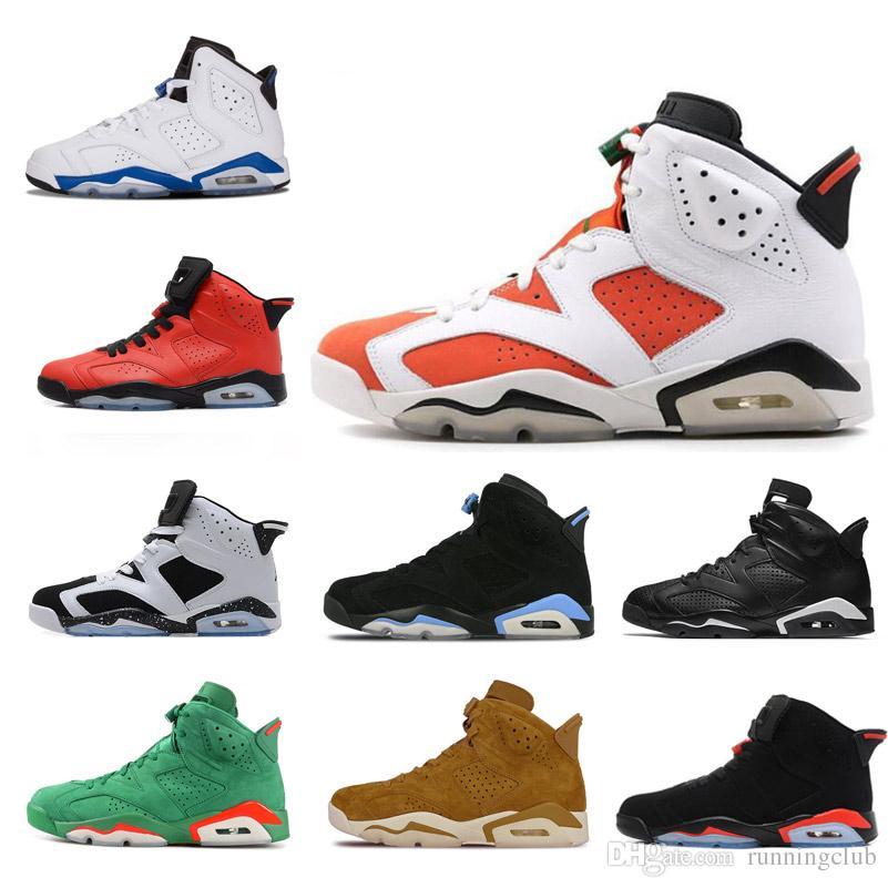 f2b6b8e4b74c47 High Quality 6 6s Tinker Basketball Shoes Men Sneakers UNC Blue Black Cat Wheat  Gatorade White Infrared Carmine Maroon Oreo Sports Shoes Basketball Shoe Men  ...