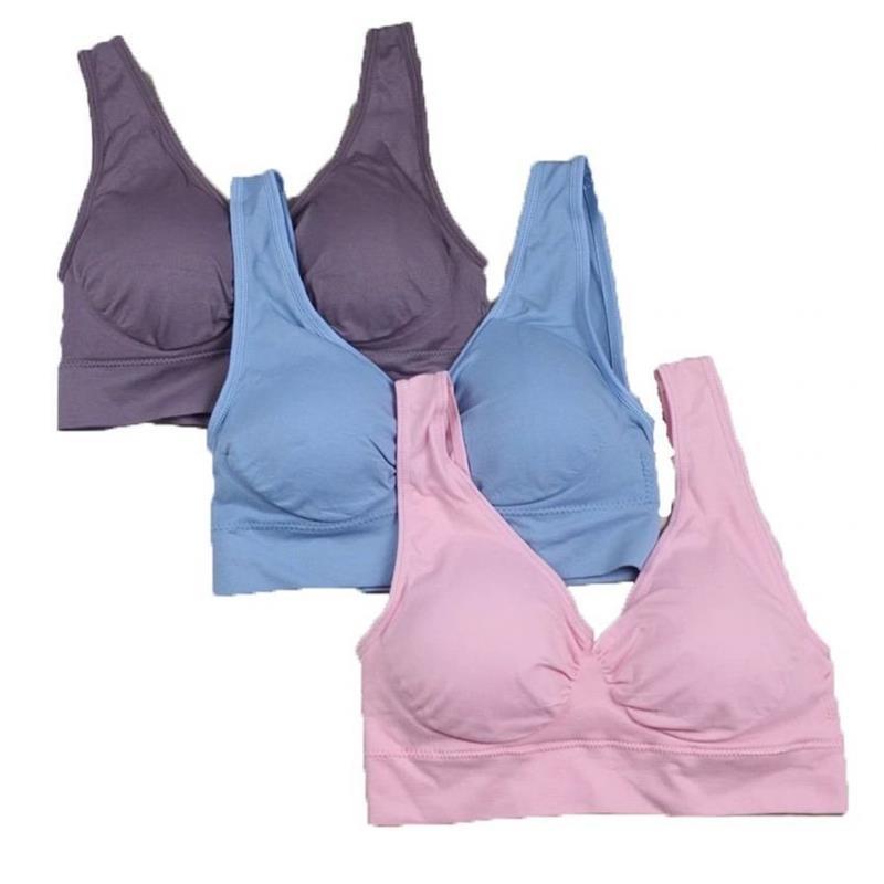 4f32869d90 Women Sport Yoga Bras Genie Bra With Pads Seamless Push Up Bra ...