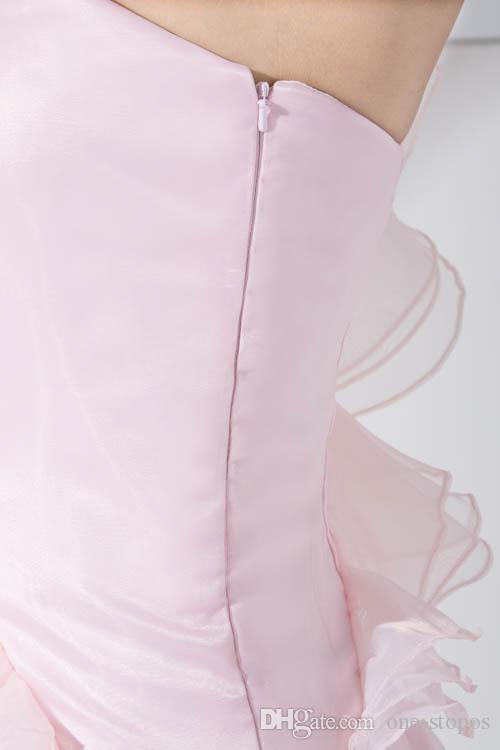 Sexy Pink Short Homecoming Dresses Sweet 16 Graduation Cocktail Party Girls One-Shoulder Ruffle Bodycon vestidos para la noche Mini vestido
