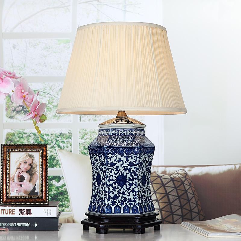 2019 Vintage Style Porcelain Ceramic Desk Table Lamps For Bedside