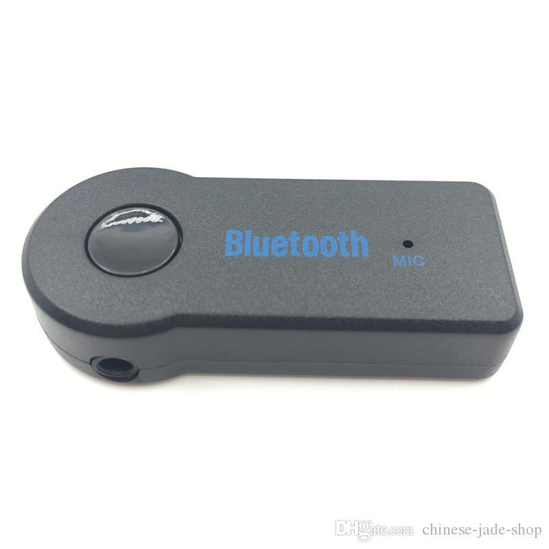 ヘッドフォンReciever Jack HandFree 50ピース/ロトのための車の音楽のためのStereo 3.5 BlutoothのワイヤレスBluetoothレシーバーアダプタAUX 3.5mm A2DP