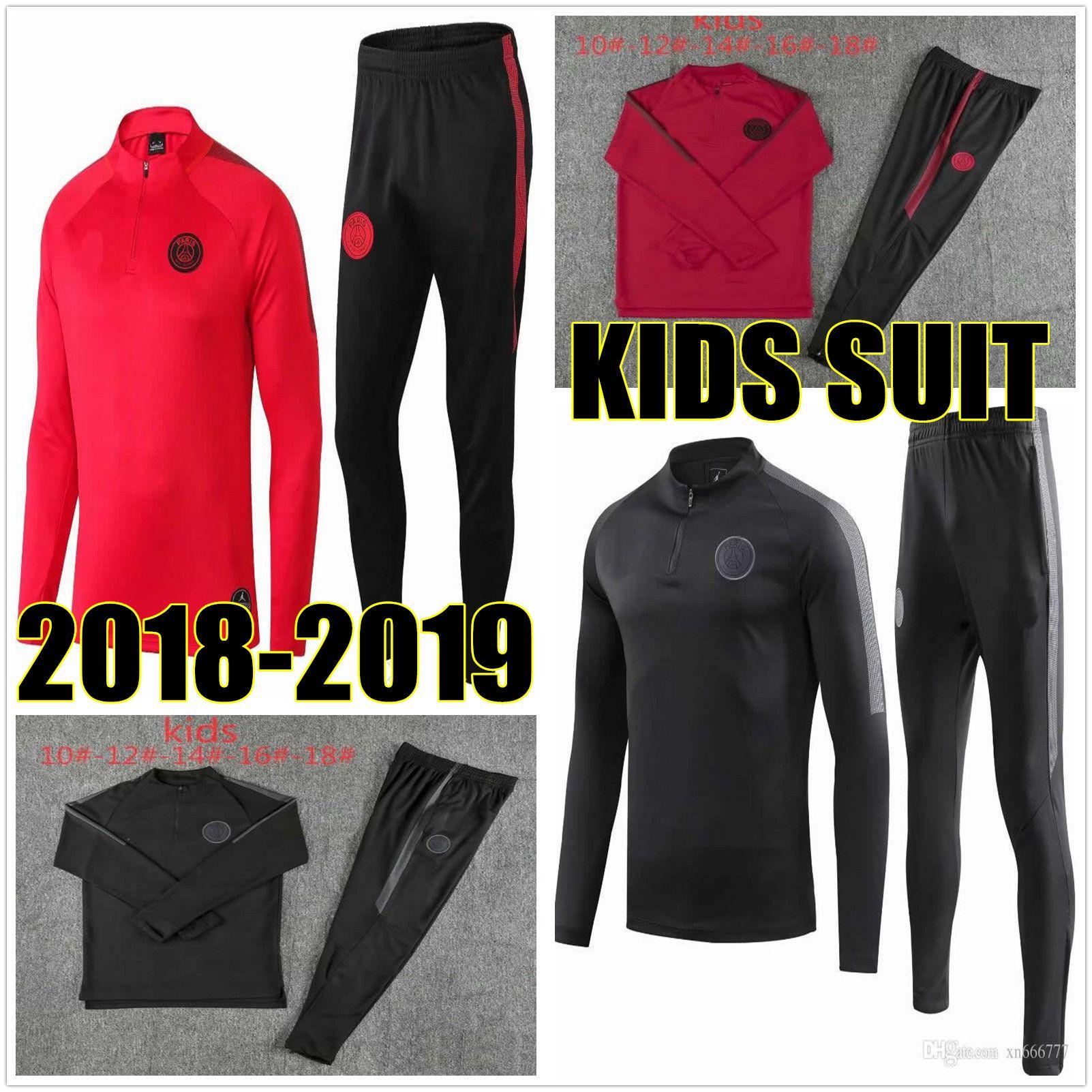 dcb40cd7c 2019 2018 2019 Kid PSG Tracksuit MBAPPE Kids Kits 18 19 Paris Champions  League Soccer Training Suit Tracksuits 18 19 Maillot De Foot Boys Jacket  From ...