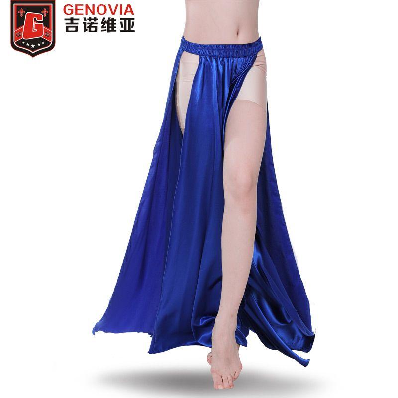 6e6042d5e Disfraz de danza del vientre de rendimiento Falda santa Falda de 2 lados  Falda Mujeres sexy Danza oriental del vientre Ropa femenina