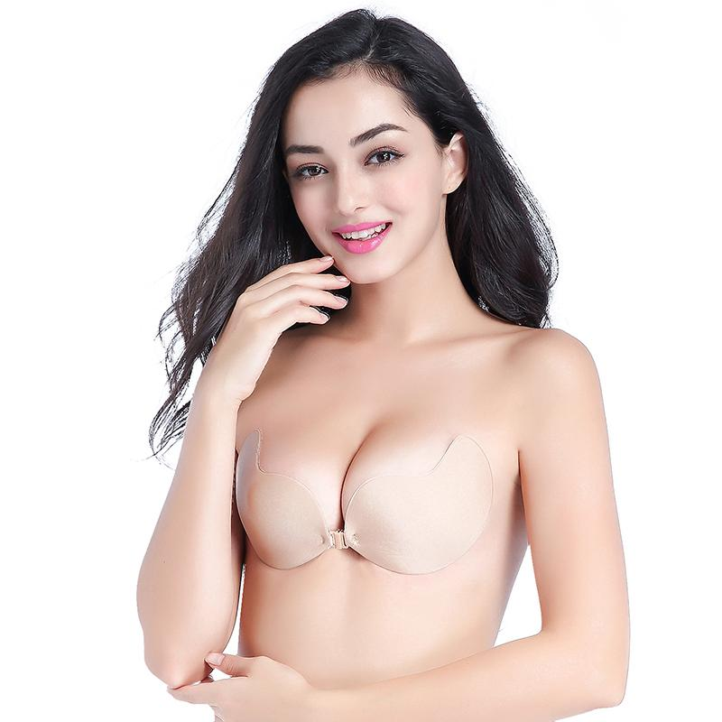 0697ec1ad3591 2019 Fly Bra Strapless Silicone Push Up Invisible Bra Self Adhesive  Backless Bralette Lift Bralette Plus Size Seamless Bras 2018 From Netecool