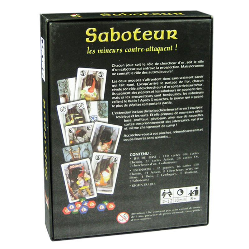 Saboteur Board Game 12 Version Jeu De Baseextension Board Game