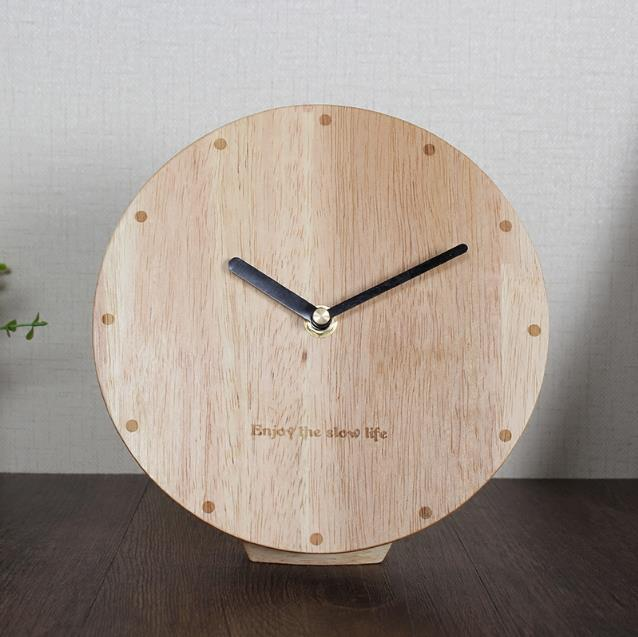 2019 Wooden Japanese Style Table Clock Home Decoration 6 Inch 10 Two Size Optional With Magnets Fridge Stickers Hanging From Bowse