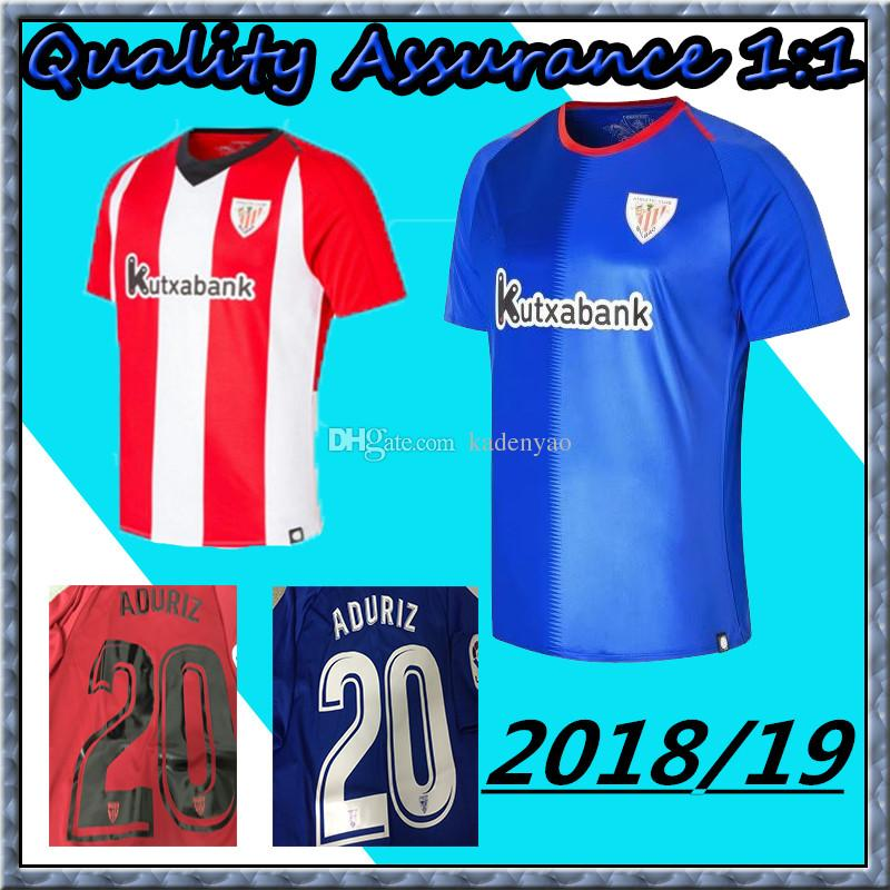 692324f5ea1 ... fifa world cup youth soccer jersey fd1cf 7e66e  low price bilbao soccer  jersey muniain football uniform 2018 2019 home red and white away blue