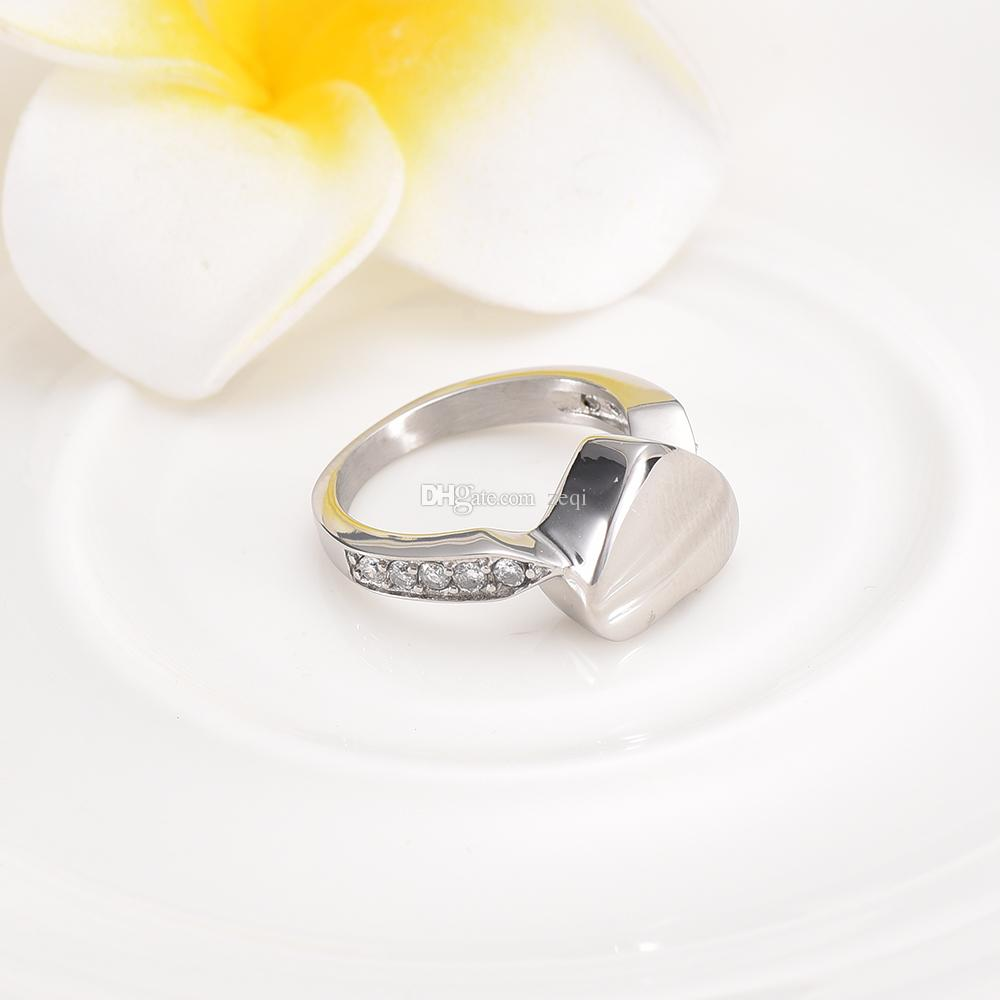 Charm Crystal Inlay Eternity Ring #6#7#8#9 Stainless Steel Memorial Finger Ring Cremation Jewelry for Ashes Urn Ring Ash Jewelry