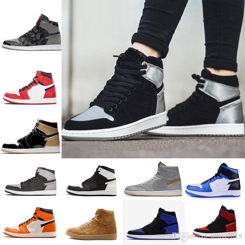 406af1bed2b7 2018 New 1 High OG Game Royal Banned Shadow Bred Toe Basketball Shoes Men  1s Shattered Backboard Silver Medal High Quality Mens Sneakers Kd Basketball  Shoes ...